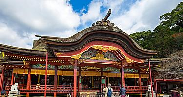 Main hall of Dazaifu Tenmangu Shrine in Dazaifu, Fukuoka, Japan