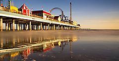 Pleasure Pier Sunrise, Galveston, Texas