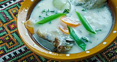 A bowl of fish soup in Poland