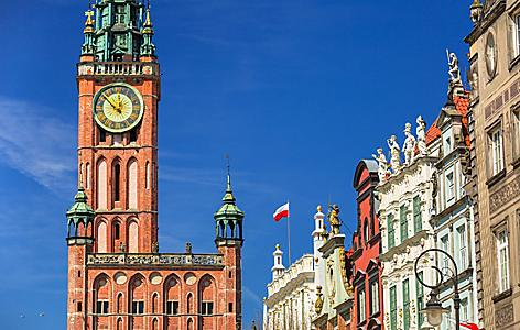 The city hall building in Gdansk, Poland