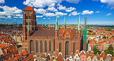 View of St. Mary Cathedral in Gdansk, Poland