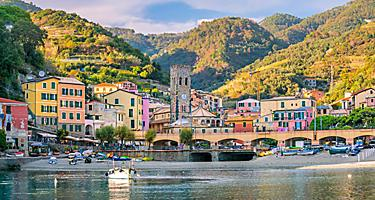 View of a seaside village in Cinque Terre