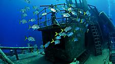One of the best-known wreck dives in the Caribbean, the USS Kittiwake, George Town, Grand Cayman