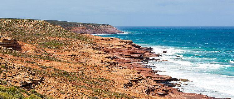 Indian ocean cliffs in Geraldton, Australia