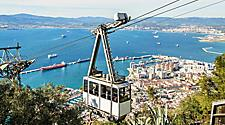 View of the cable car in Gibraltar, United Kingdom
