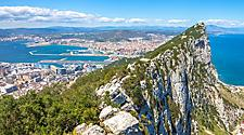 Aerial View of the Rock of Gibraltar