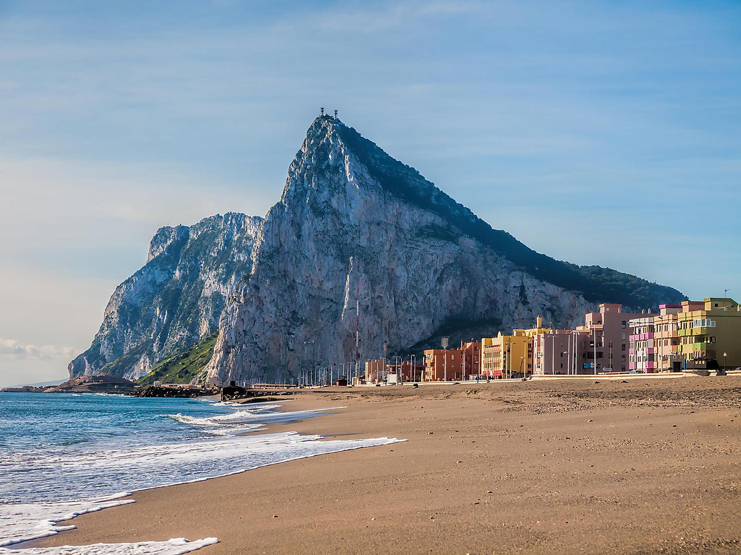 Gibraltar, United Kingdom, Rock View From Beach