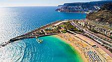 Aerial view of Amadores Beach in Gran Canaria, Canary Islands
