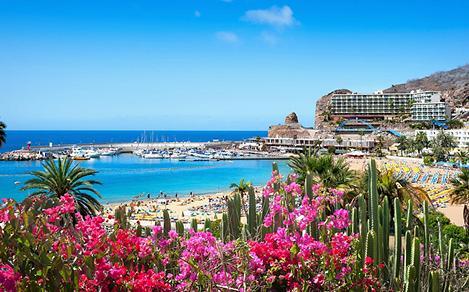 Puerto Ricos beach in Gran Canaria, Canary Islands