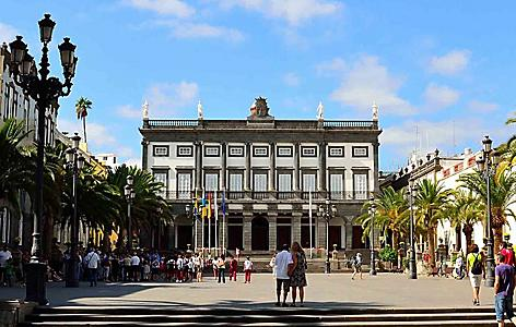 The Santa Ana Square in Gran Canaria, Canary Islands