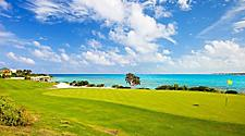 Golf course on a beautiful summer day in Grand Bahama Island, Bahamas