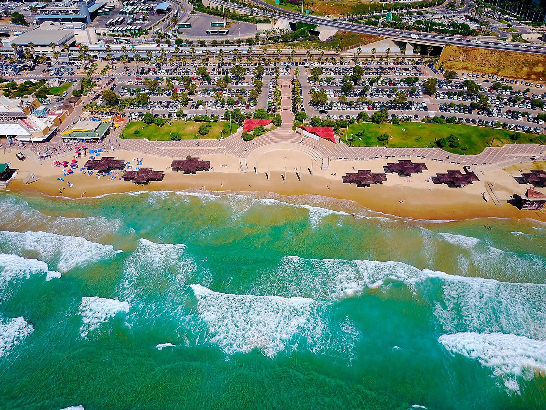 Haifa, Israel Beach Aerial View