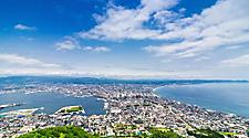 View from atop Mt. Hakodate in Hakodate, Japan