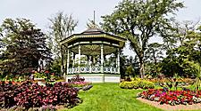 A gazebo located in a garden in Halifax, Nova Scotia