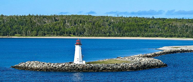 The Mcnabs Island Lighthouse in Halifax, Nova Scotia