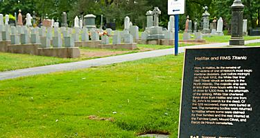 Graves of victims of the Titanic in Nova Scotia