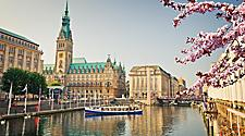 The Alster River in Hamburg, Germany