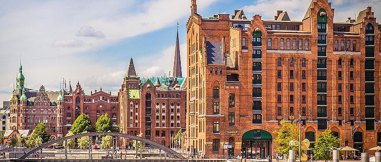Historic buildings in Hamburg, Germany