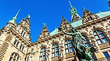 Statue at Hamburg, Germany's Town Hall