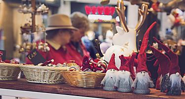A Christmas market in Hamburg, Germany