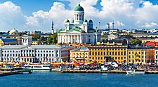 Coastal city view of Helsinki, Finland
