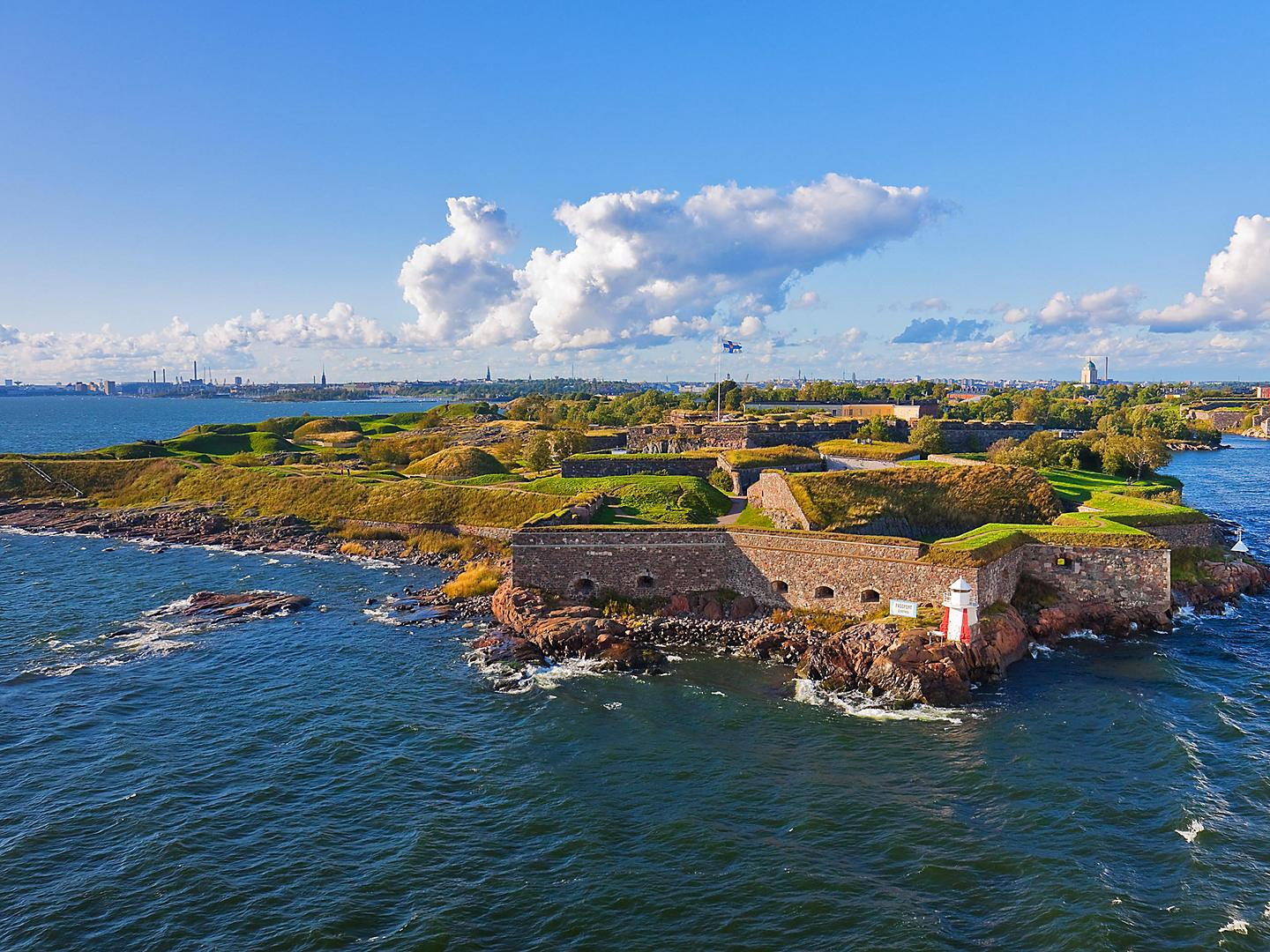 Helsinki, Finland, Aerial view of Suomenlinna Fortress