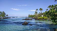 Carlsmith beach park in Hilo, Hawaii
