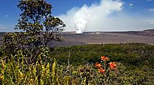 View of the landscape of Hawaii Volcanoes National Park
