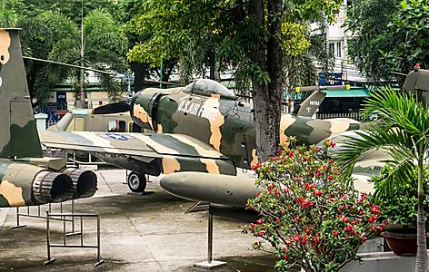American military planes on display at Vietnam Remembrance Museum