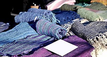 Handmade woven cotton cloth from Hobart Tasmania Australia