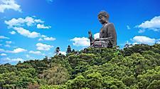The Giant Buddha Monastery in Hong Kong, Lantau Island