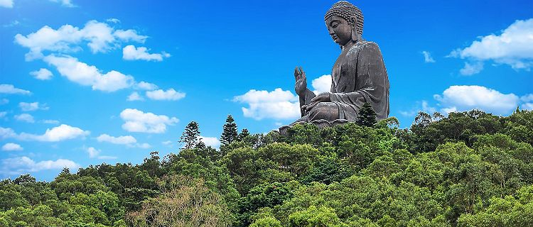 The Giant Buddha Monastery in Hong Kong, Lantau Island