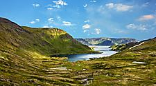 A picturesque view of the North Cap landscape in Norway