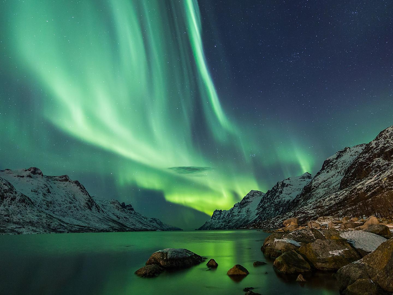 Honningsvag, Norway, Northern Lights