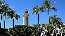 The Aloha Tower in Honolulu, Hawaii