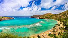 Hanauma Bay on the Hawaiian island of Oahu