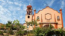 The Catholic Church in Huatulco, Mexico located in the central square