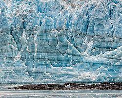 hubbard glacier alaska icy glacier mountainside
