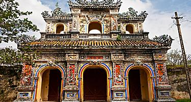 Entrance of the citadel at the UNESCO World Heritage Site in Hue, Vietnam