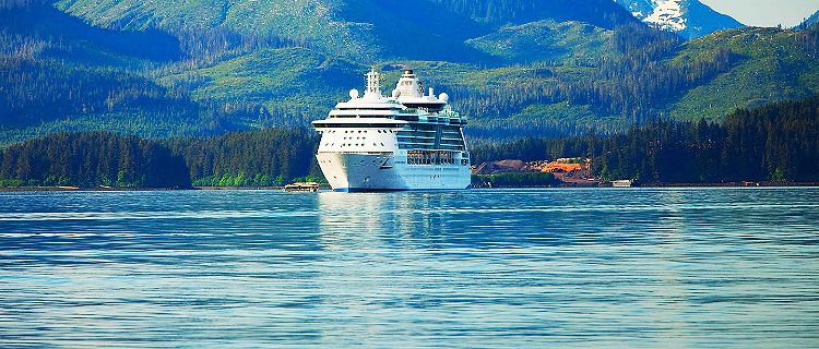 icy strait point alaska radiance icystraits cruise mountains ocean view ship