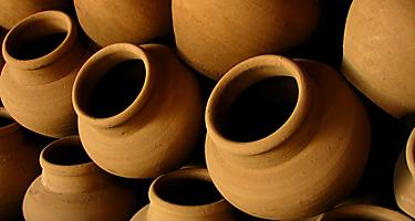 Clay pottery for sale in Ilocos, Philippines