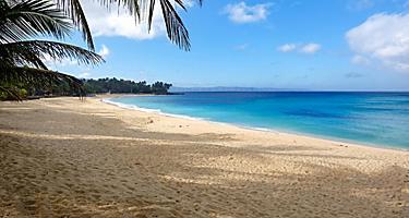 Tropical beach of Pagudpud in Ilocos, Philippines