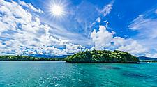 Sunny day on Kabira Bay in Ishigaki, Japan