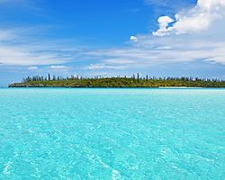 View of Oro Bay at Isle of Pines, New Caledonia