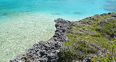 Rocky coast at Isle of Pines, New Caledonia