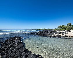 A rocky beach at Kaloko-Honokohau National Park