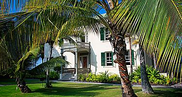 The Hulihee Palace, a former vacation home for the royal family in Kailua Kona, Hawaii