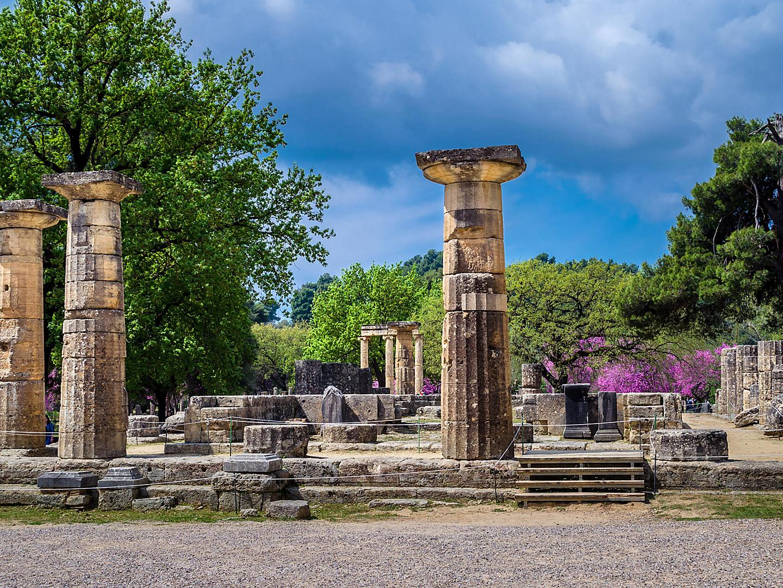 Katakolon, Greece, Ancient Pilar Ruins