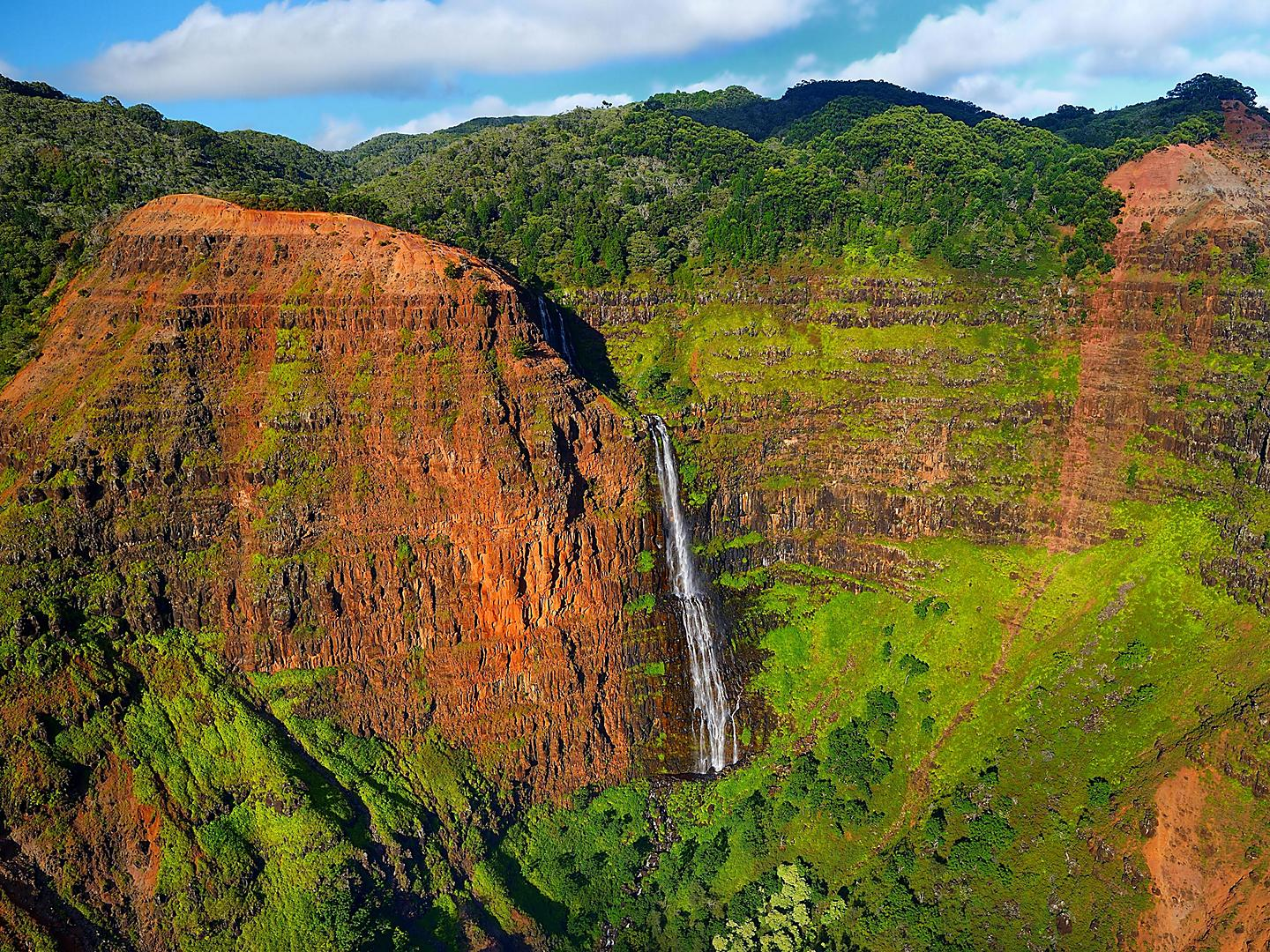 Kauai, Hawaii Canyon Aerial View