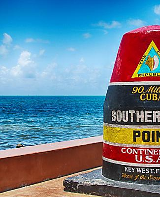 The Southernmost Point of the Continental US in Key West